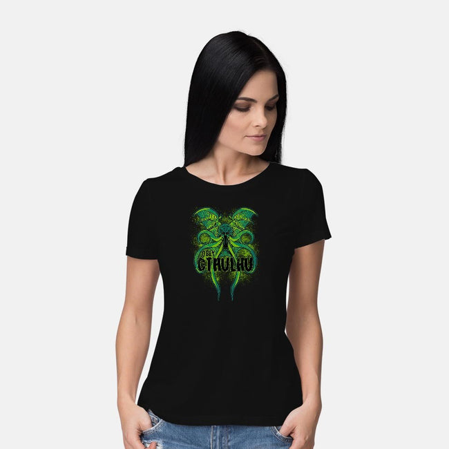 Obey The Cthulhu-womens basic tee-fanfreak1