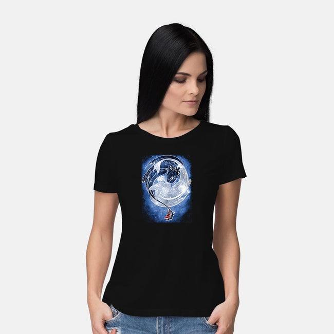 Last Starry Dragons-womens basic tee-ChocolateRaisinFury