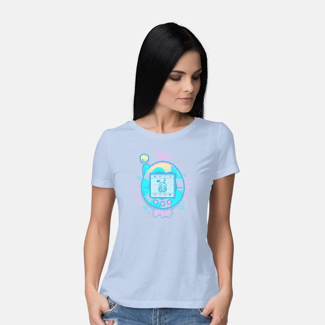Virtual Pet-womens basic tee-Minilla