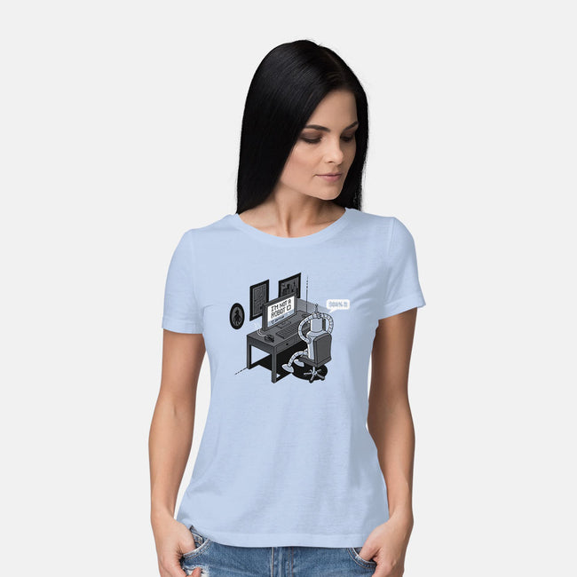 Robot Problems-womens basic tee-Gamma-Ray