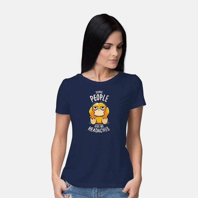 Psychic Problems-womens basic tee-typhoonic