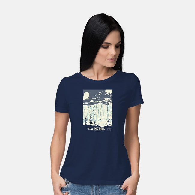 Visit The Wall-womens basic tee-Mathiole
