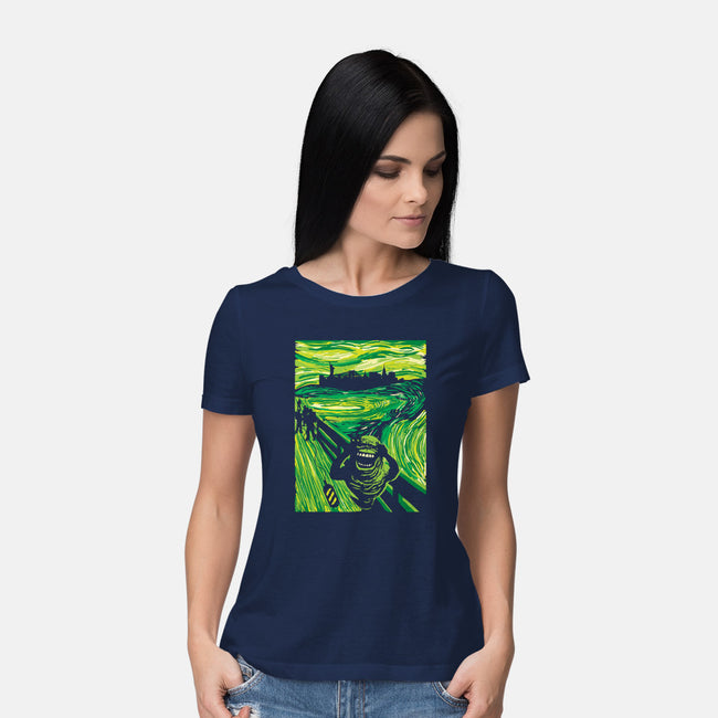 Slimer's Scream-womens basic tee-dalethesk8er