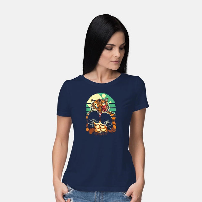 Tiger In The Ring-womens basic tee-dracoimagem