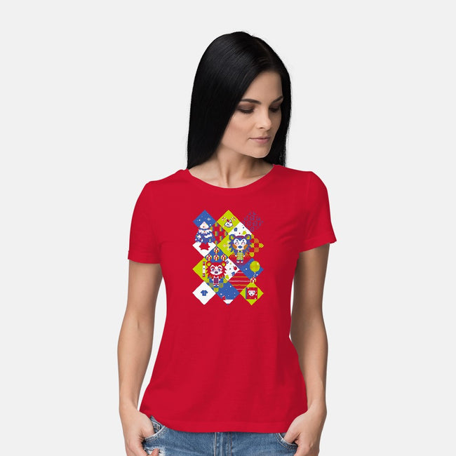 Ugly Able Sisters-womens basic tee-gamepaused