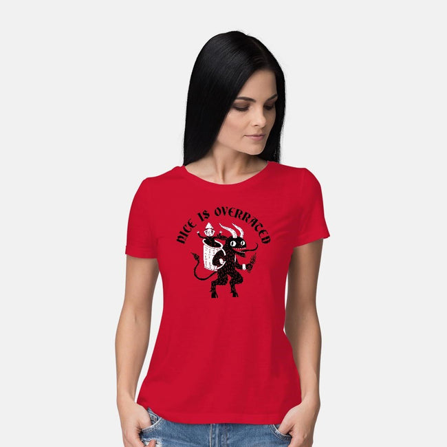 Naughty Is Better-womens basic tee-DinoMike