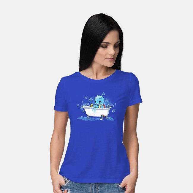 Bath Time!-womens basic tee-DoOomcat