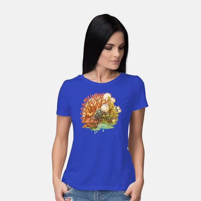 Ohmu and Fox-womens basic tee-storyofthedoor