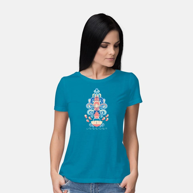 Deco by the Sea-womens basic tee-Ashley Hay
