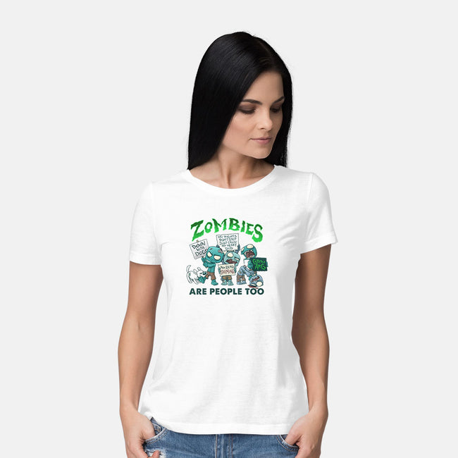 Zombie Rights-womens basic tee-DoOomcat