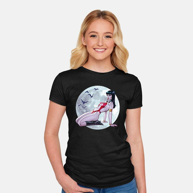 Vamp-womens fitted tee-Chris Wahl