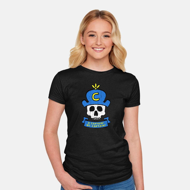 O Captain, My Captain-womens fitted tee-lunchboxbrain