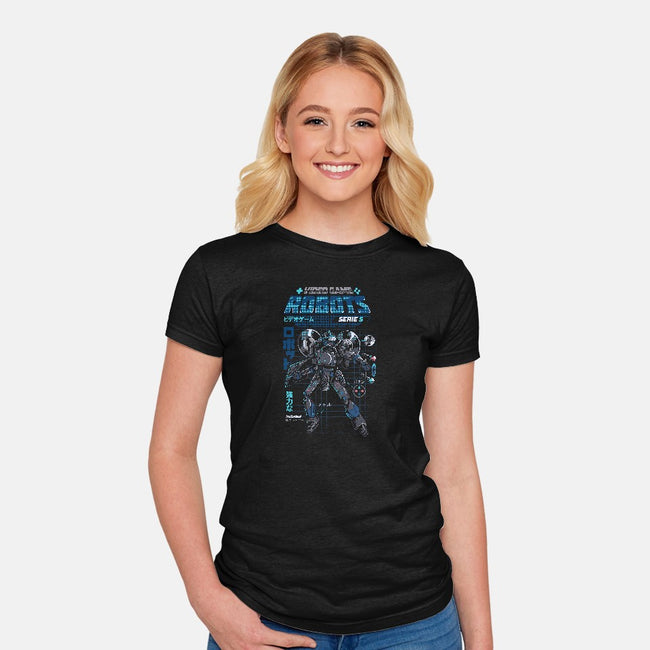 Video Game Robots-Model S-womens fitted tee-ilustrata