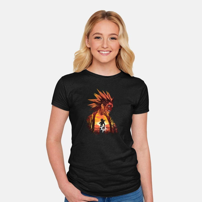 Dancing Flames-womens fitted tee-dandingeroz