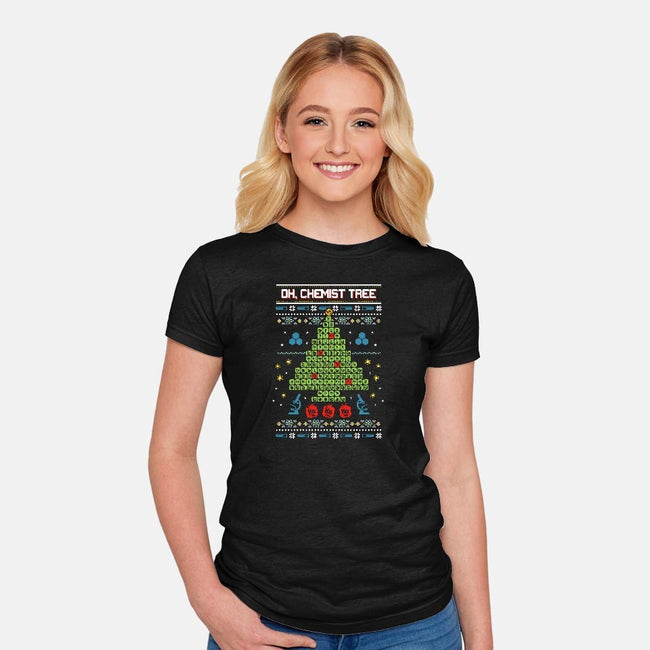 Oh, Chemist Tree!-womens fitted tee-neverbluetshirts