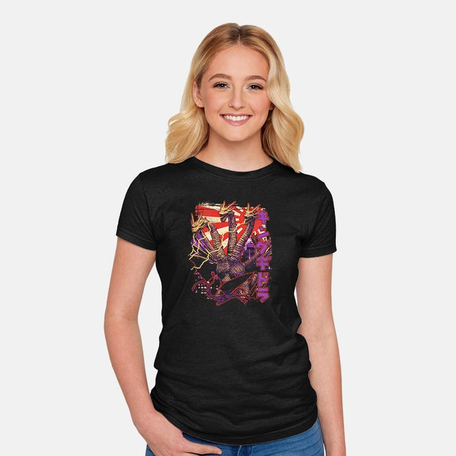 Triple Threat Pop-womens fitted tee-cs3ink