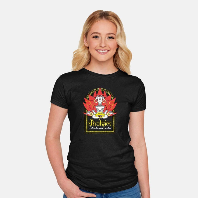Dhalsim Meditation Center-womens fitted tee-MdMbunny