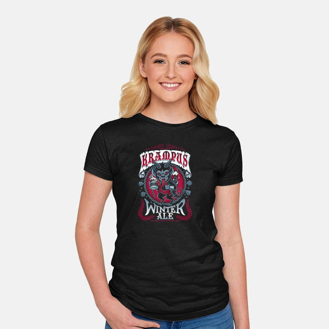 Krampus Winter Ale-womens fitted tee-Nemons