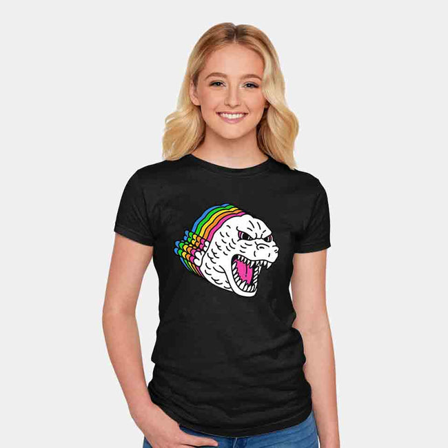 Colors of Godzilla-womens fitted tee-khairulanam87