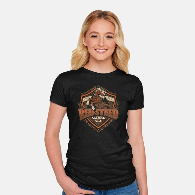 Red Steed Amber Ale-womens fitted tee-CoryFreeman