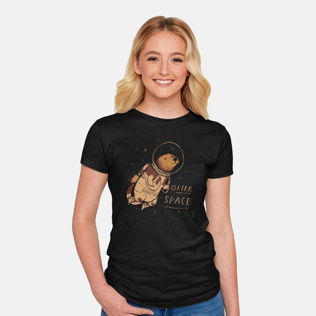 Otter Space-womens fitted tee-louisros
