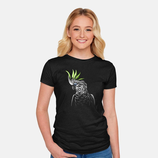Tribal Parrot-womens fitted tee-albertocubatas