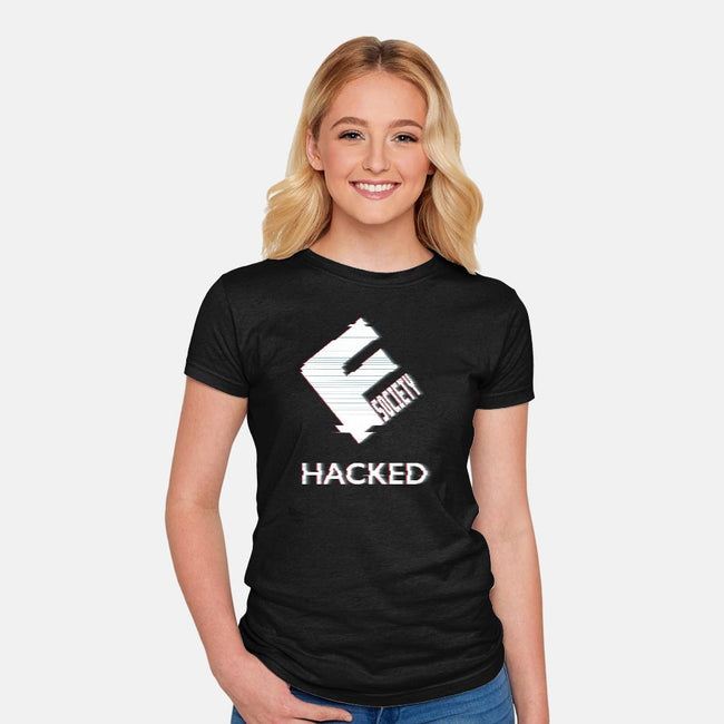 Hacked Corp-womens fitted tee-DJKopet