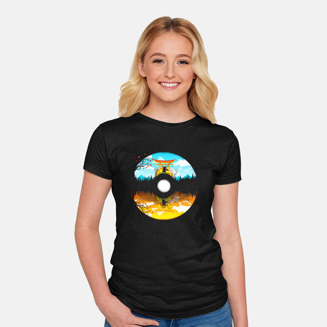 Poke World-womens fitted tee-constantine2454