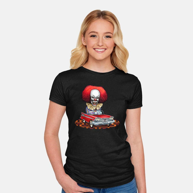 King of Horror-womens fitted tee-ChetArt