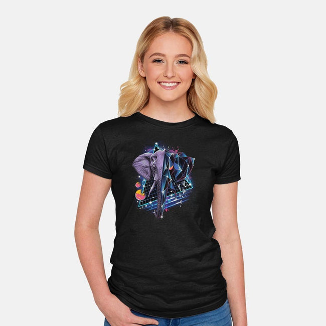 RAD ELEPHANT-womens fitted tee-vp021
