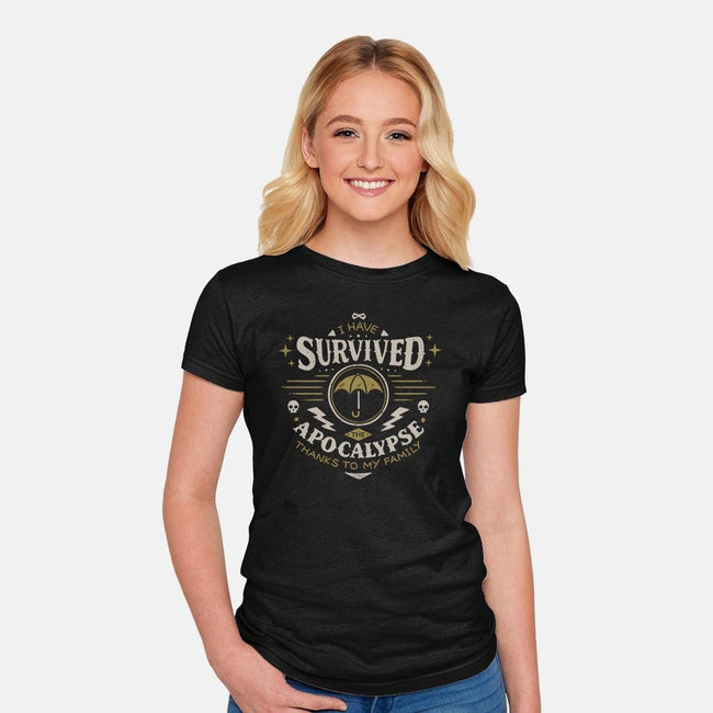 I Survived the Apocalypse-womens fitted tee-Typhoonic