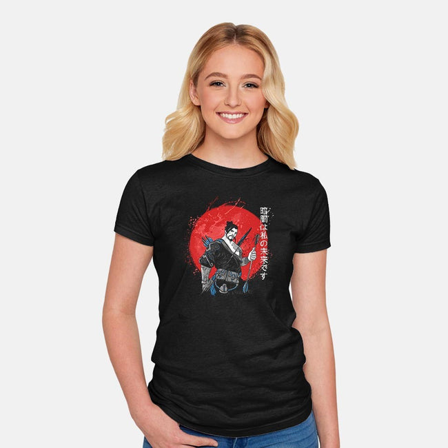 Dark Samurai-womens fitted tee-ducfrench