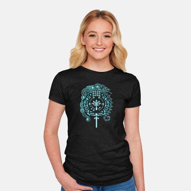 Open Your Eyes-womens fitted tee-KatHaynes
