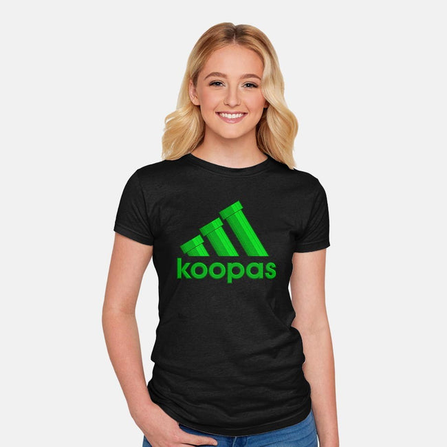 Koopas-womens fitted tee-ilcalvelage