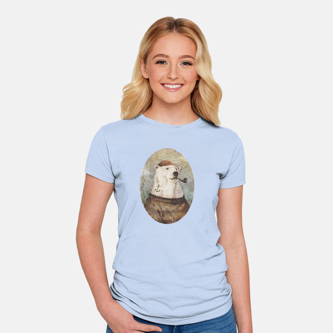Onto the Shore-womens fitted tee-Mike Koubou
