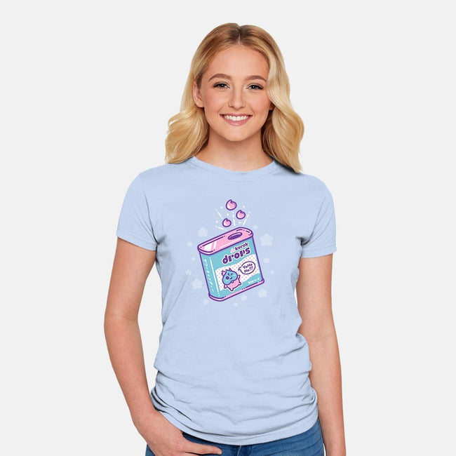Korok Drops-womens fitted tee-Minilla