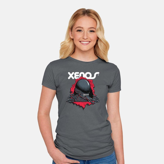 Xenos-womens fitted tee-Nemons