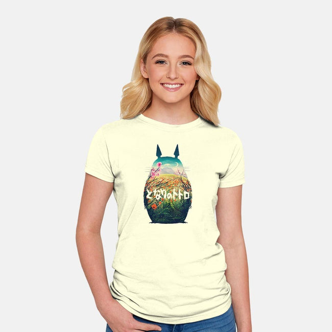 Forest Dream-womens fitted tee-victorsbeard