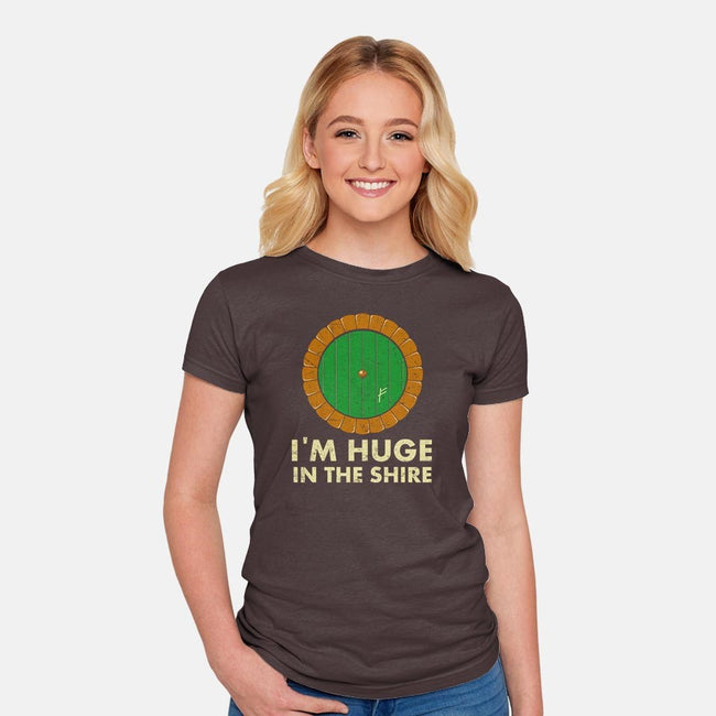 I'm Huge-womens fitted tee-karlangas
