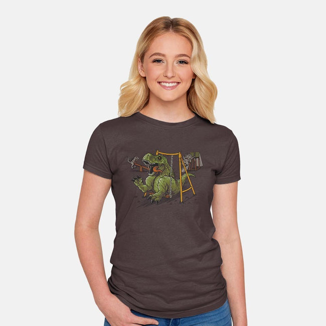 Prehistoric Park-womens fitted tee-Naolito
