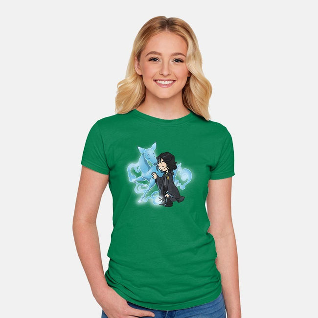 Gentle Guardian-womens fitted tee-DoOomcat