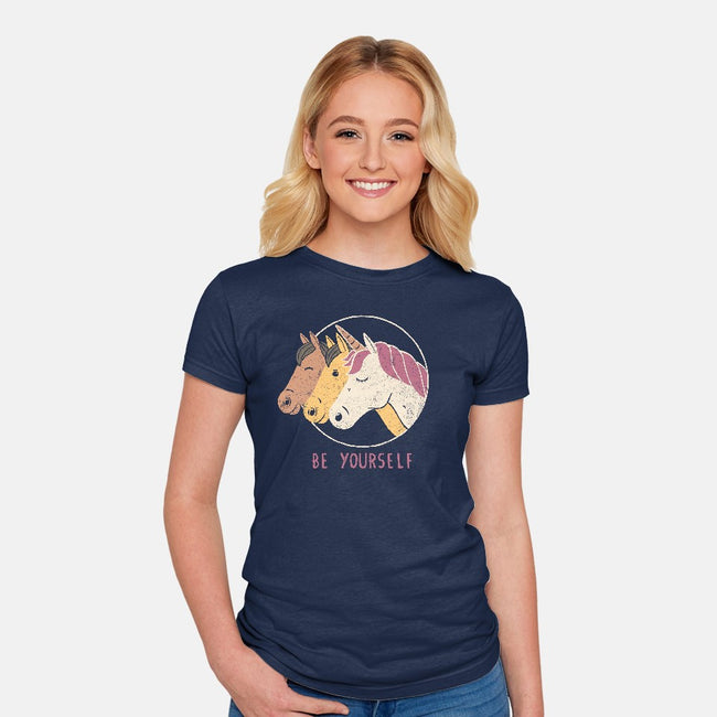 Unless You Can Be a Unicorn-womens fitted tee-tobefonseca