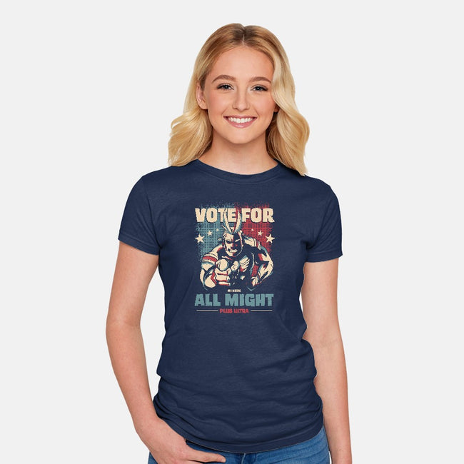 Vote for Plus Ultra!-womens fitted tee-nerduniverse