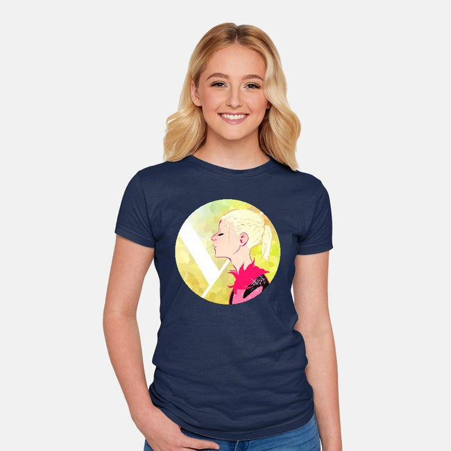 Yellow Figure Skater-womens fitted tee-Joannaestep