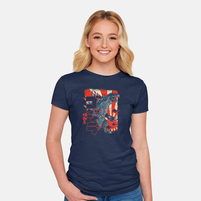 King Of Pop-womens fitted tee-cs3ink