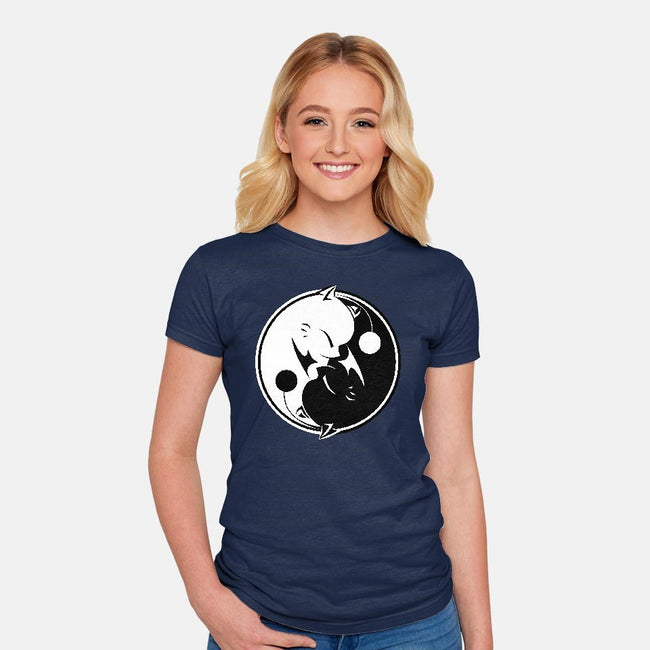 Yin Yang Mog-womens fitted tee-motoslave