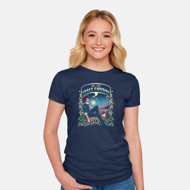 I'm Watching a Dream-womens fitted tee-Creative Outpouring