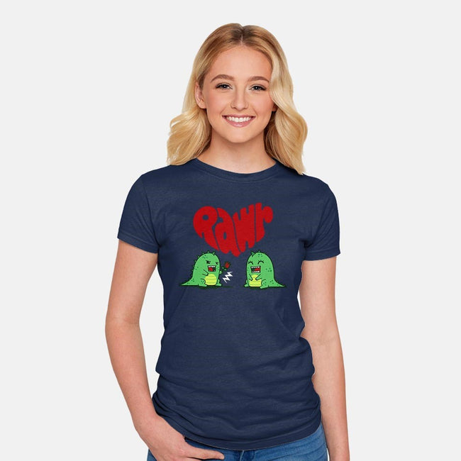 Rawr Means Love-womens fitted tee-Boggs Nicolas