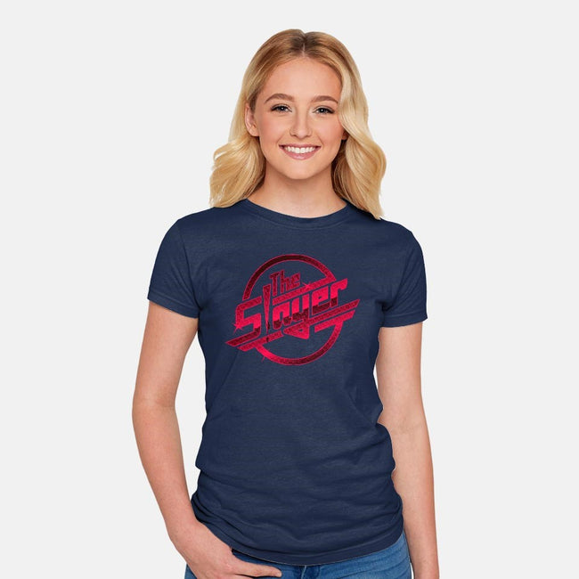 Once More With Slaying-womens fitted tee-amanoxford
