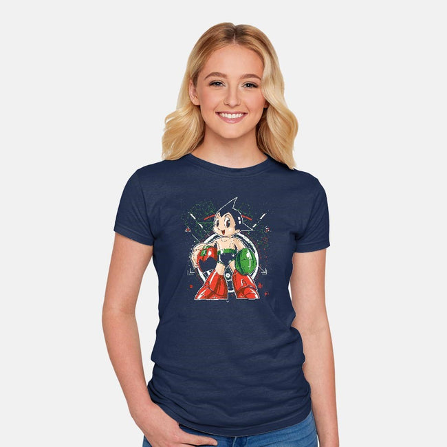 Mega Boy-womens fitted tee-El Black Bat